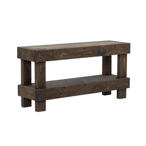 Walnut Solid Wood Garden Benches In Most Popular Del Hutson Designs Rustic Dark Walnut Contemporary Farmhouse (View 18 of 20)