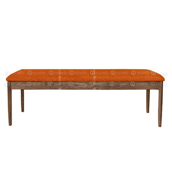 Walnut Solid Wood Garden Benches Regarding Widely Used Alvin Upholstered Solid Wood Dining Bench – Walnut Finish – More Colors (Gallery 13 of 20)