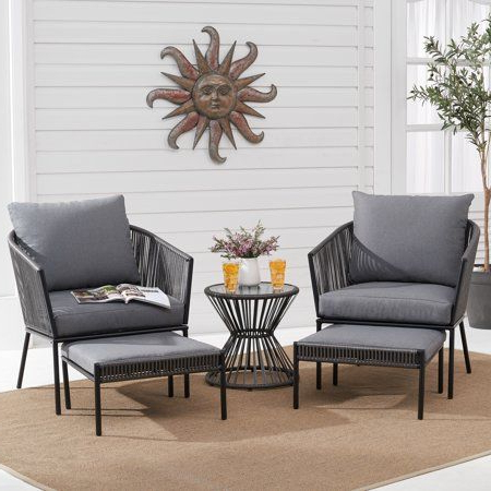 Well Known Better Homes And Gardens Brecken Patio 5 Piece Chat Set With With Regard To Brecken Teak Garden Benches (View 11 of 20)