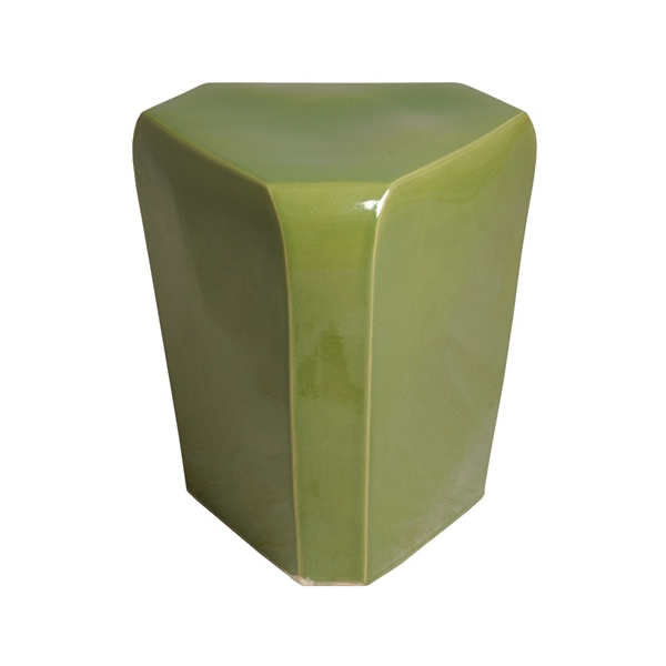 Well Known Celery Green Triangle Garden Stool – Seven Colonial In 2020 Pertaining To Jadiel Ceramic Garden Stools (View 17 of 20)