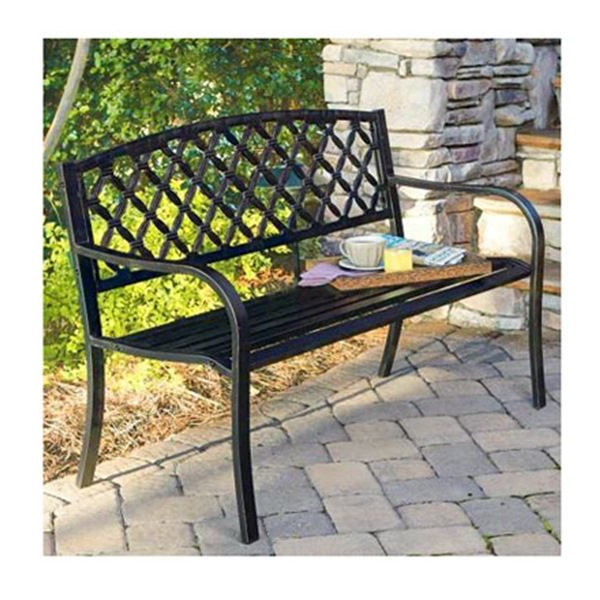 Well Known Heslin Steel Park Benches Intended For Imperial Power Co Ltd Latt Back Stl Bench – Walmart In (View 6 of 20)
