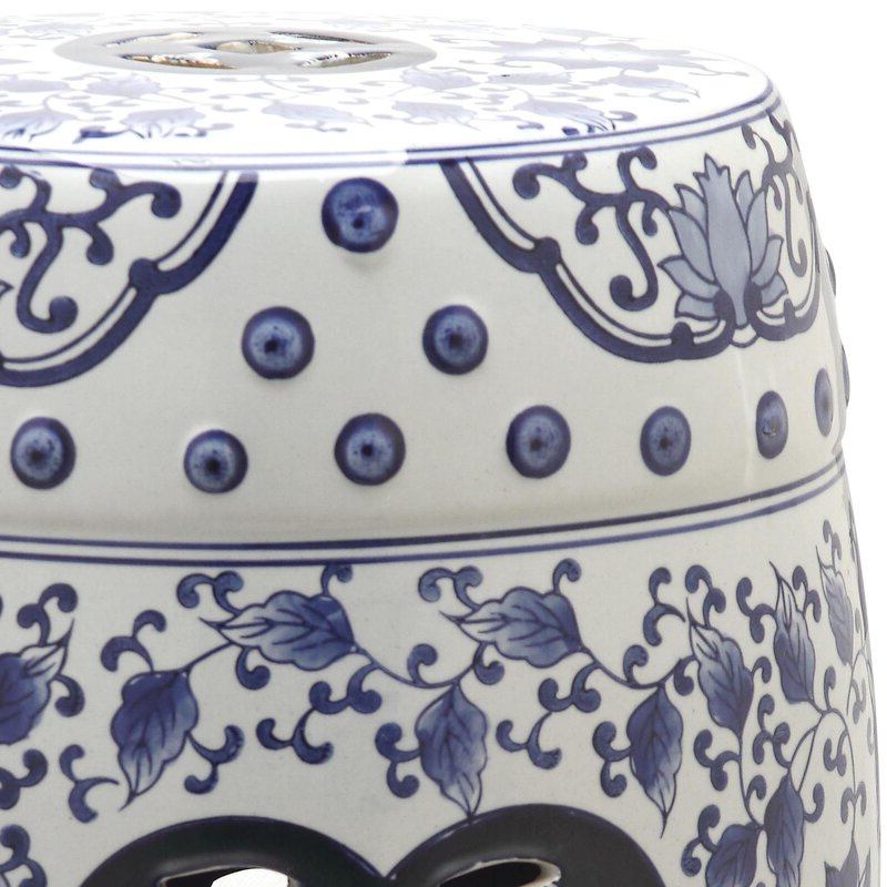 Well Known Murphy Ceramic Garden Stool Within Irwin Blossom Garden Stools (View 11 of 20)