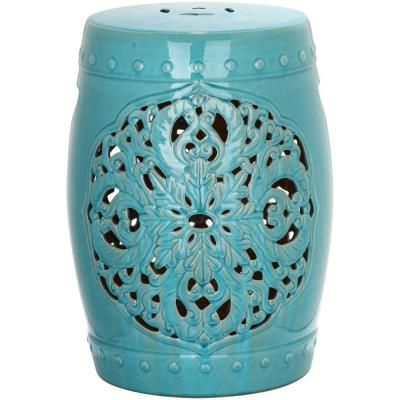 Well Known Murphy Ceramic Garden Stools Within Safavieh Flora Light Blue Ceramic Garden Stool Acs4527c (View 17 of 20)