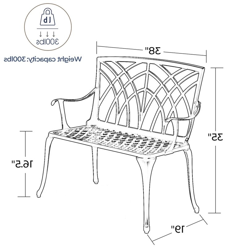 Well Known Norrie Metal Garden Benches For Norrie Metal Garden Bench (View 7 of 20)