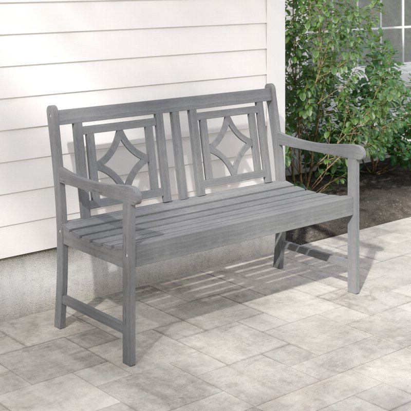 Well Known Shelbie Wooden Garden Benches With Regard To Shelbie Patio Diamond Wooden Garden Bench (View 5 of 20)