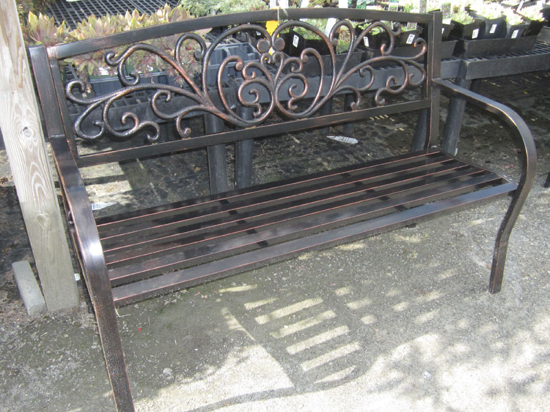 Well Liked Blooming Iron Garden Benches Pertaining To Ward's Nursery (View 14 of 20)