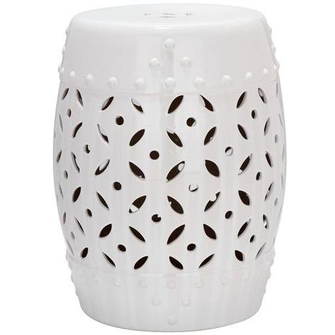 Well Liked Safavieh Lattice Coin White Ceramic Patio Stool (View 20 of 20)