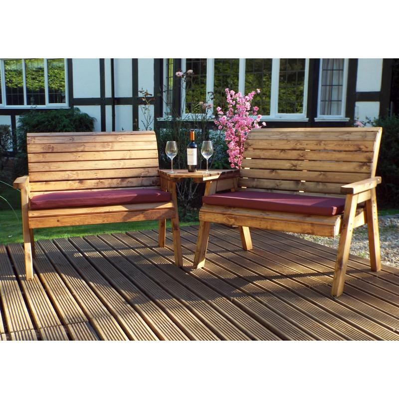 Wicker Tete A Tete Benches Regarding 2019 2 Seater Straight Tete A Tete Companion Love Seat Garden Bench & Table (View 16 of 20)