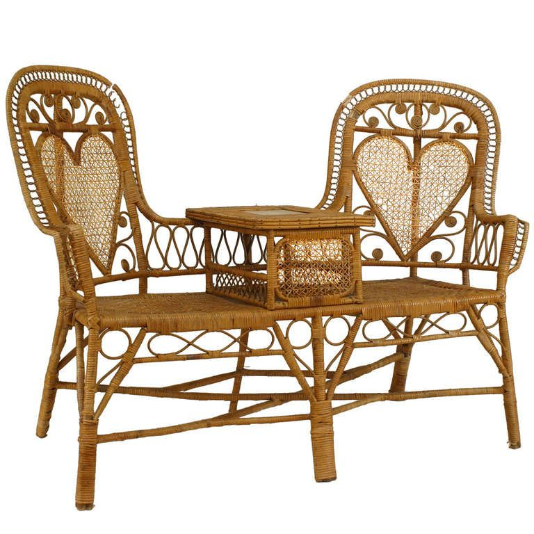 Wicker Tete A Tete Benches With Regard To Famous 19th C (View 12 of 20)