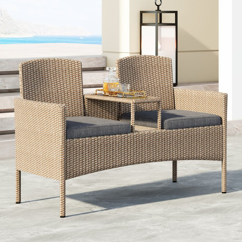 Featured Photo of Wicker Tete A Tete Benches