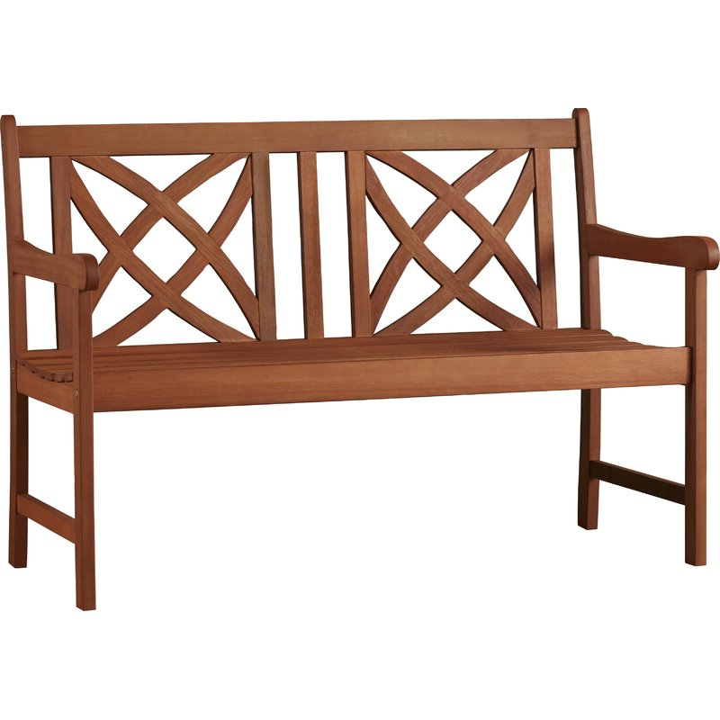 Widely Used Maliyah Wooden Garden Benches For Maliyah Solid Wood Garden Bench (View 6 of 20)