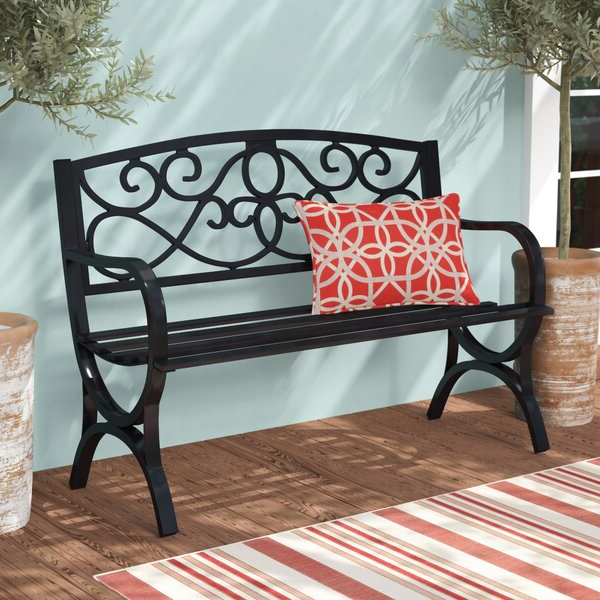 Widely Used Steel Outdoor Bench Throughout Pauls Steel Garden Benches (View 4 of 20)