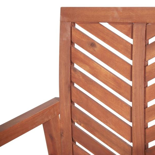 Widely Used Walker Edison Furniture Company Brown Chevron Outdoor Acacia In Skoog Chevron Wooden Garden Benches (View 17 of 20)