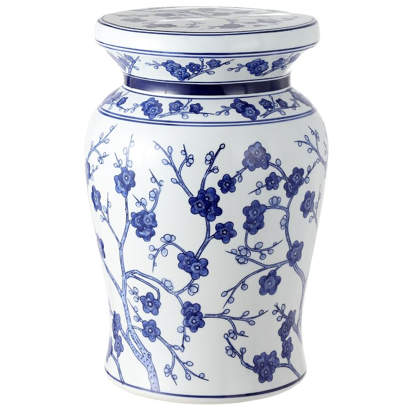 Wiese Cherry Blossom Ceramic Garden Stool With Regard To Favorite Williar Cherry Blossom Ceramic Garden Stools (View 5 of 20)