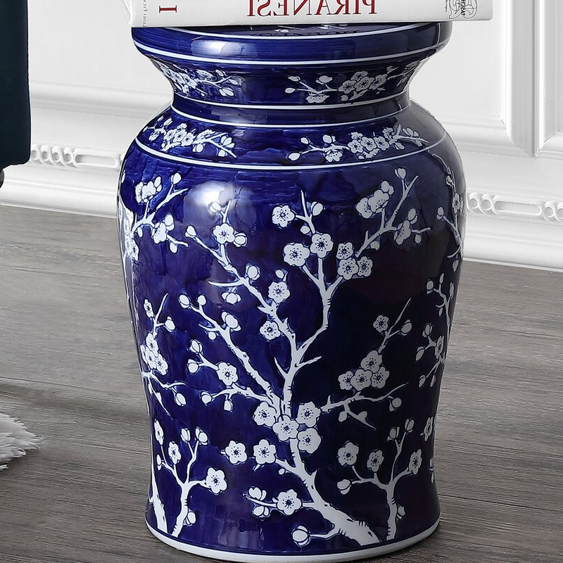 Wiese Cherry Blossom Ceramic Garden Stools With Newest Williar Cherry Blossom Ceramic Garden Stool (View 5 of 20)