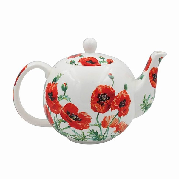 Wild Poppy Tea Pot From Our Lesser And Pavey Range Regarding Well Known Wilde Poppies Ceramic Garden Stools (View 12 of 20)