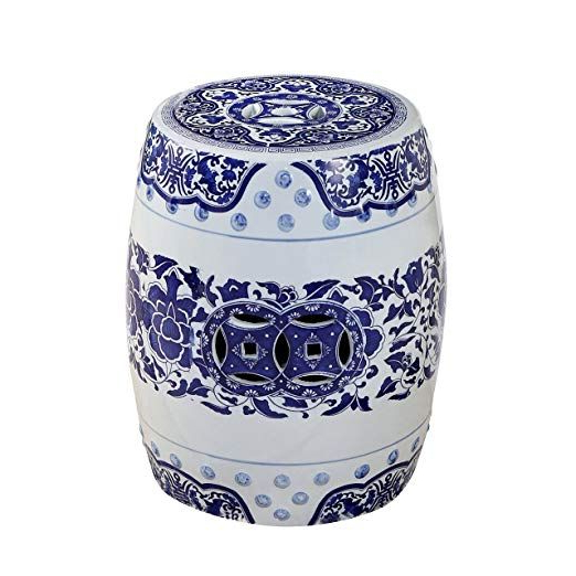 Winterview Garden Stools With Trendy Amazon: Abbyson Patricia Sp 1608 Bw Ceramic Garden Stool (View 14 of 20)