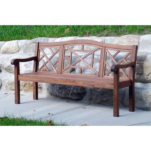Wooden Bench Outdoor, Garden In Hampstead Heath Teak Garden Benches (View 3 of 20)