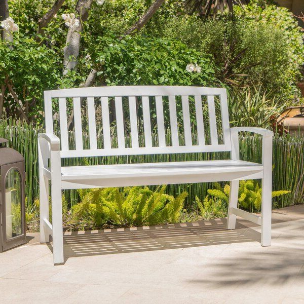 Wooden Garden Benches Intended For Most Recently Released Leora Wooden Garden Benches (View 6 of 20)