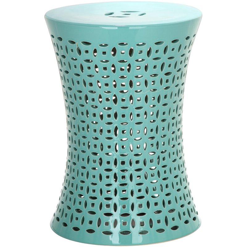 Zenobia Ceramic Garden Stool Regarding Most Recent Aloysius Ceramic Garden Stools (View 14 of 20)