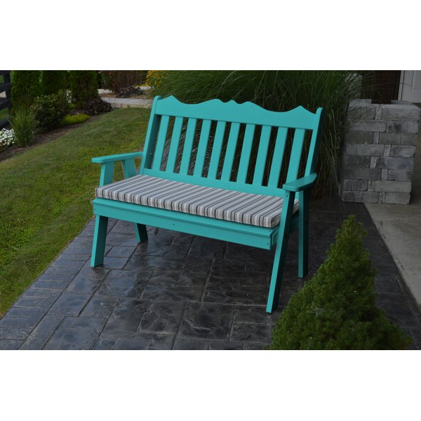 Zev Blue Fish Metal Garden Benches Intended For Trendy English Garden Bench (View 4 of 20)