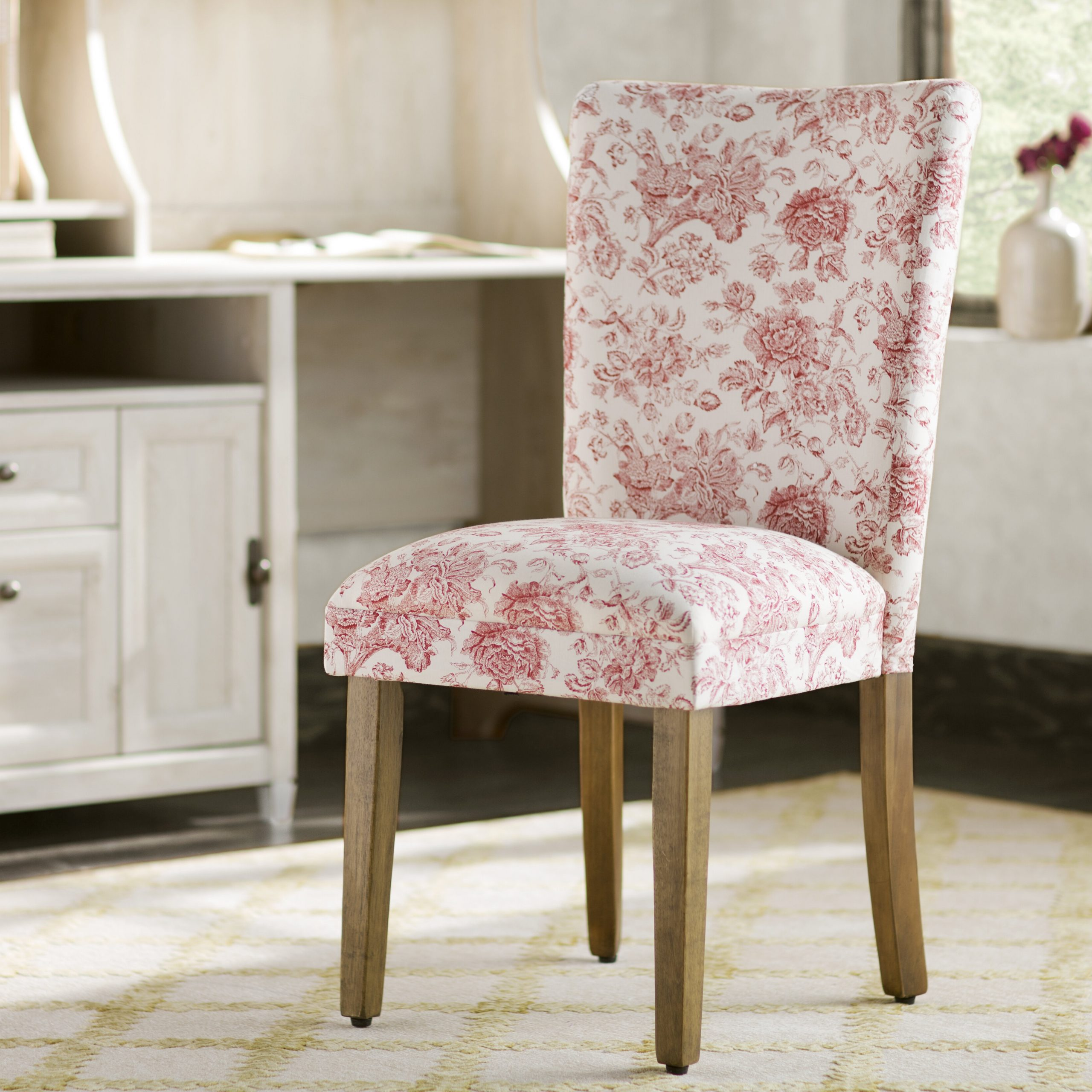 2019 Aime Upholstered Parsons Chairs In Beige Throughout Coastal Parsons Kitchen & Dining Chairs You'll Love In (View 6 of 20)