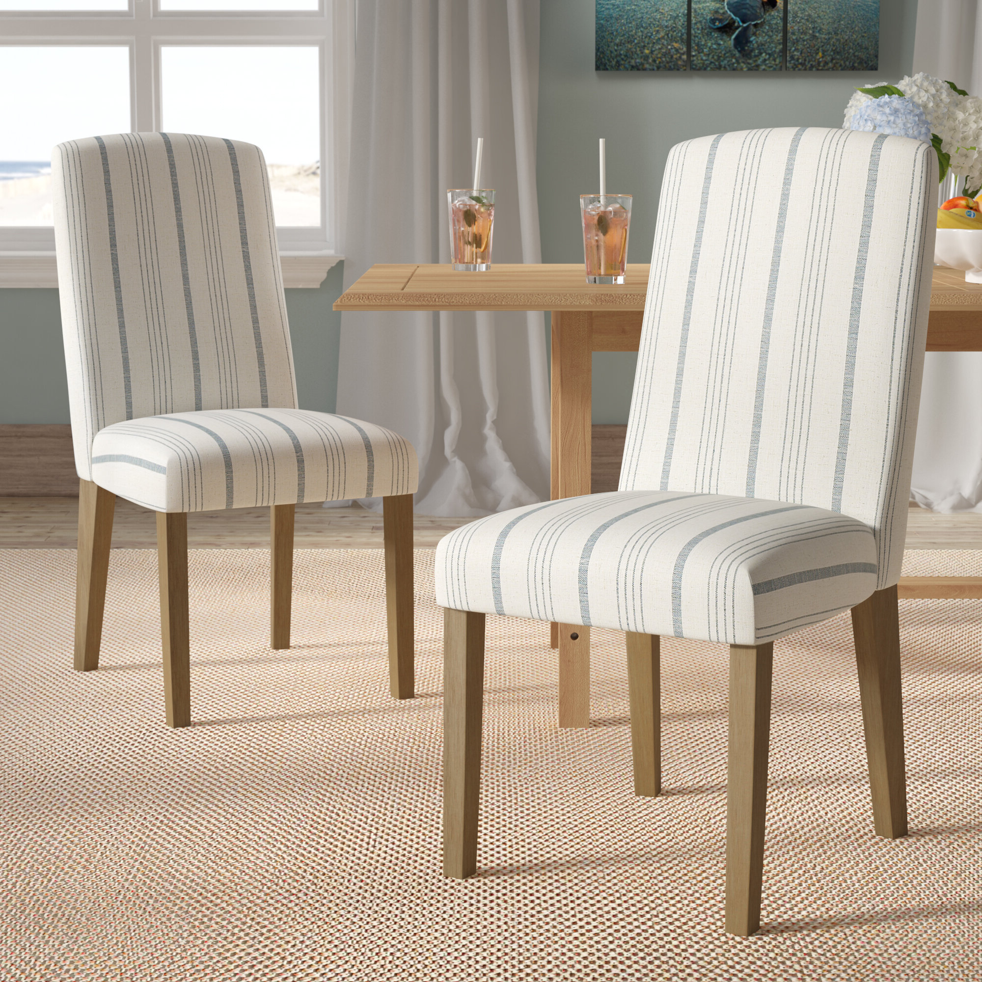 2019 Aime Upholstered Parsons Chairs In Beige With Coastal Parsons Accent Chairs You'll Love In (View 3 of 20)