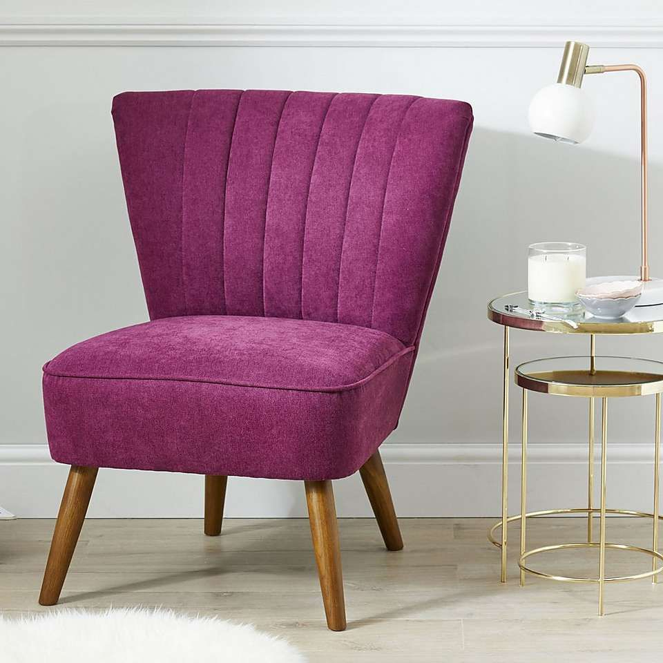 2019 Armory Fabric Armchairs With Regard To Imogen Chair – Aubergine (View 11 of 20)