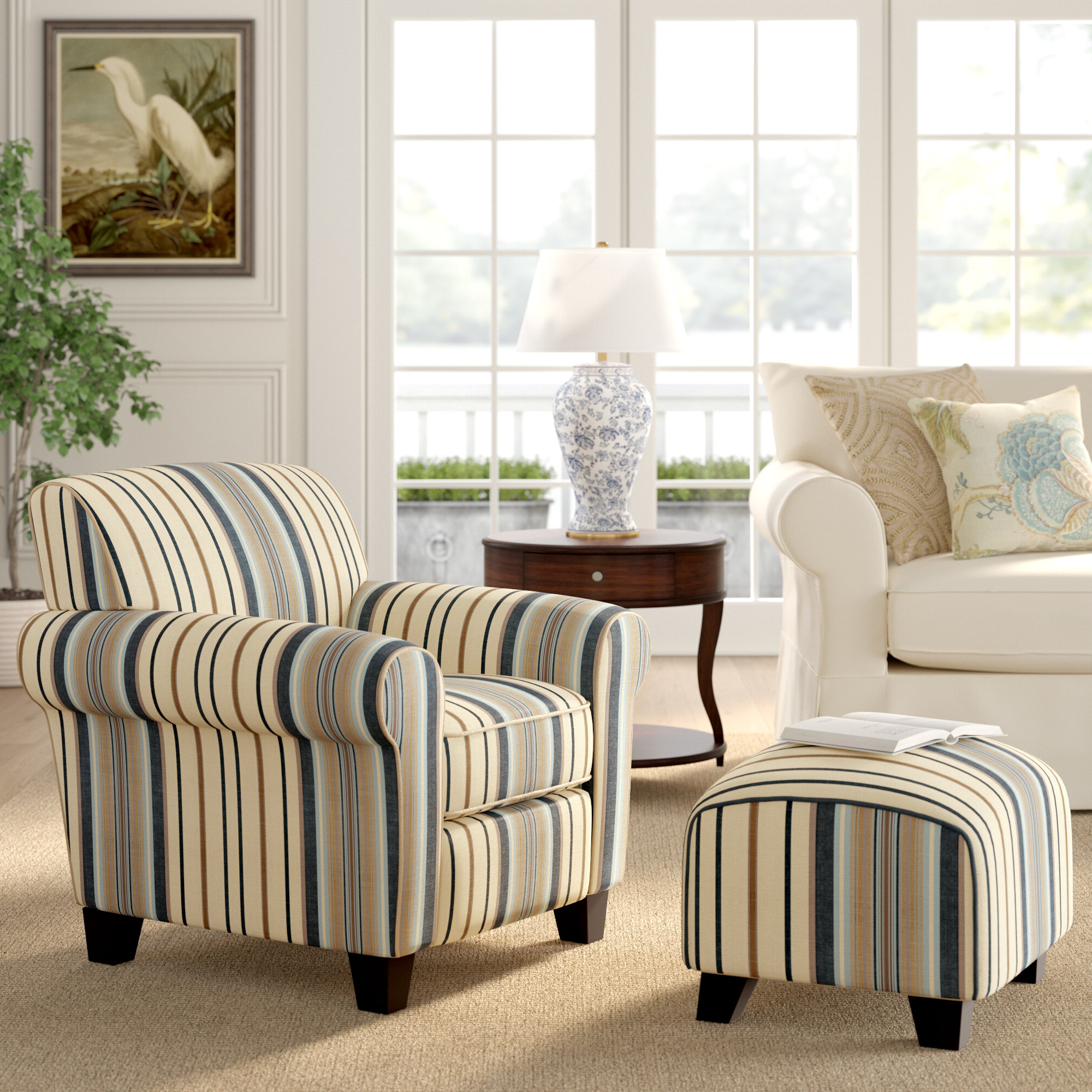 2019 Brown Ottoman Included Accent Chairs You'll Love In 2021 For Harmon Cloud Barrel Chairs And Ottoman (View 10 of 20)