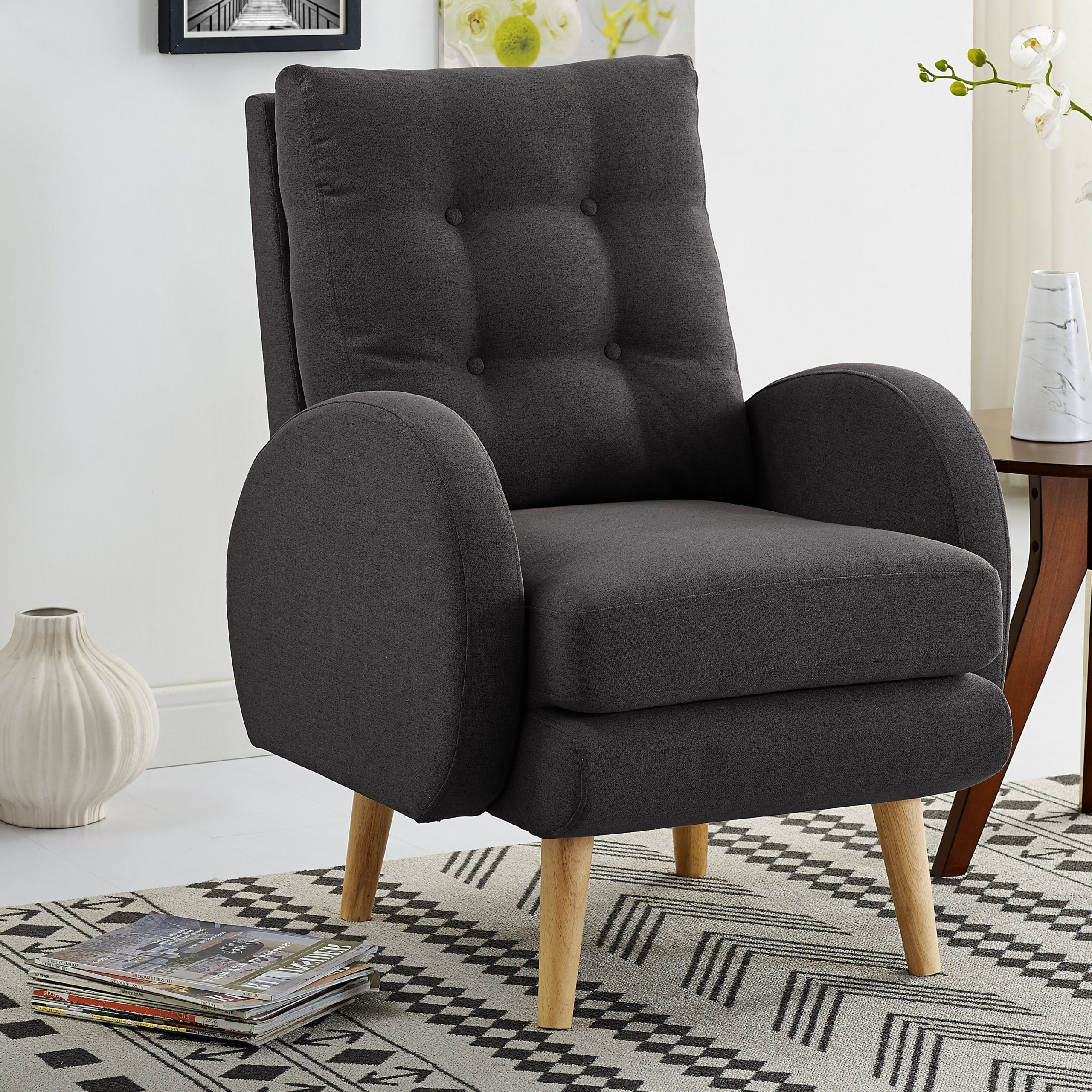 2019 Claudel Polyester Blend Barrel Chairs Intended For Hiltz Armchair (View 11 of 20)