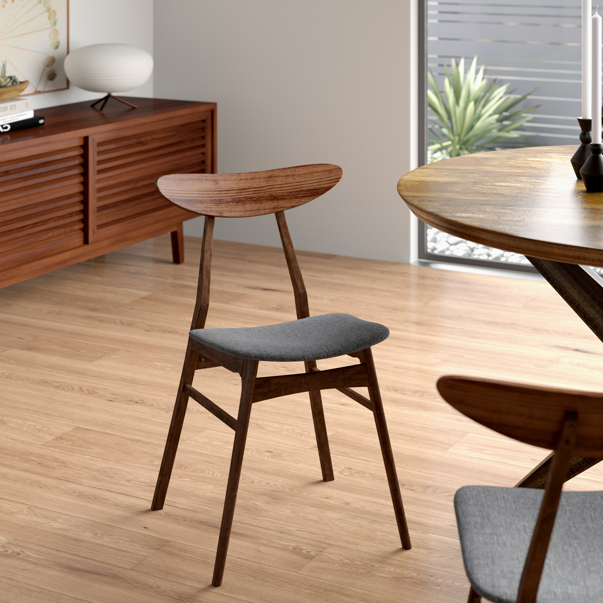 2019 Filton Barrel Chairs With Regard To Filton Solid Wood Dining Chair (View 4 of 20)