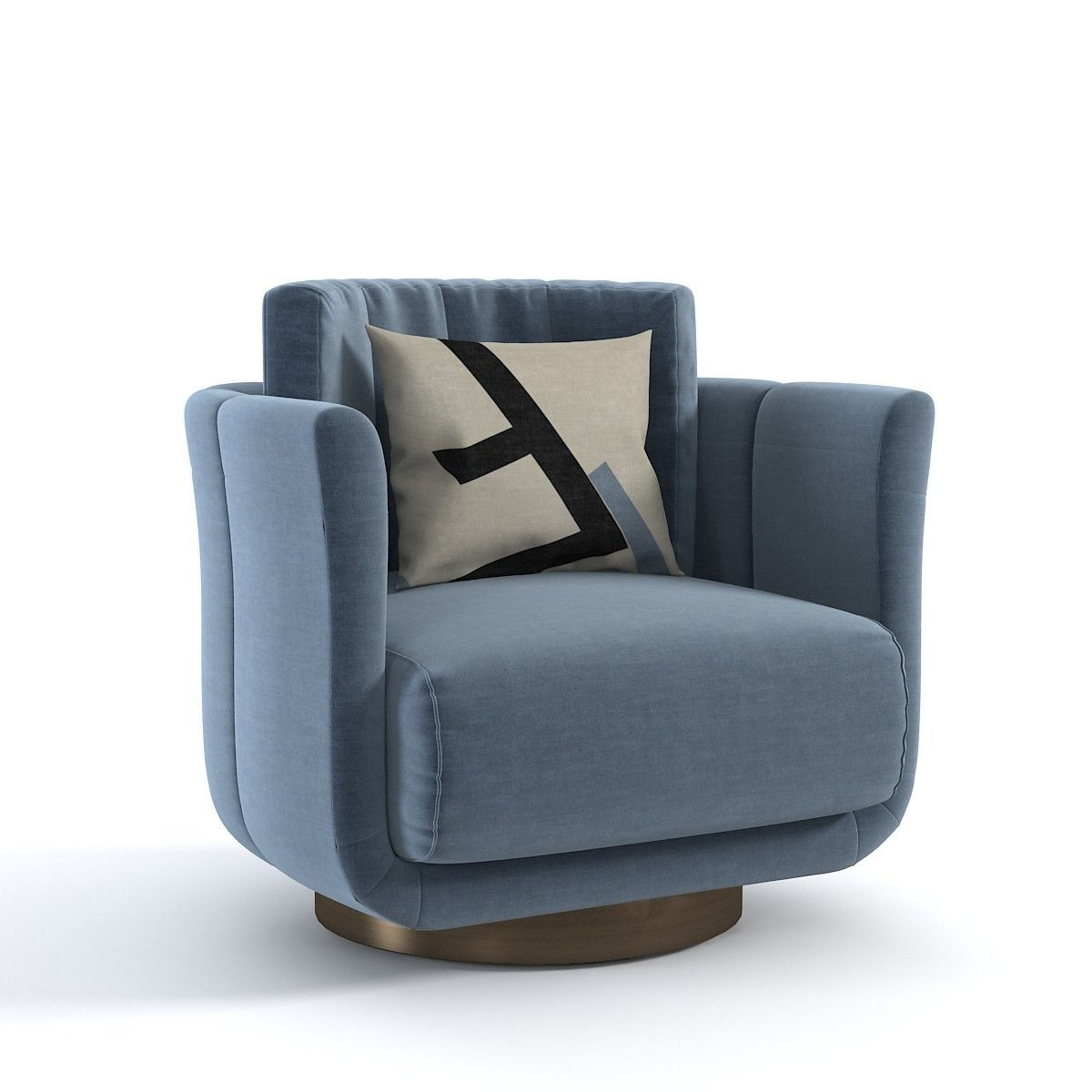 2019 Hutchinsen Polyester Blend Armchairs With Regard To Fendi Casa Artu 3d Model #sofachair (View 10 of 20)