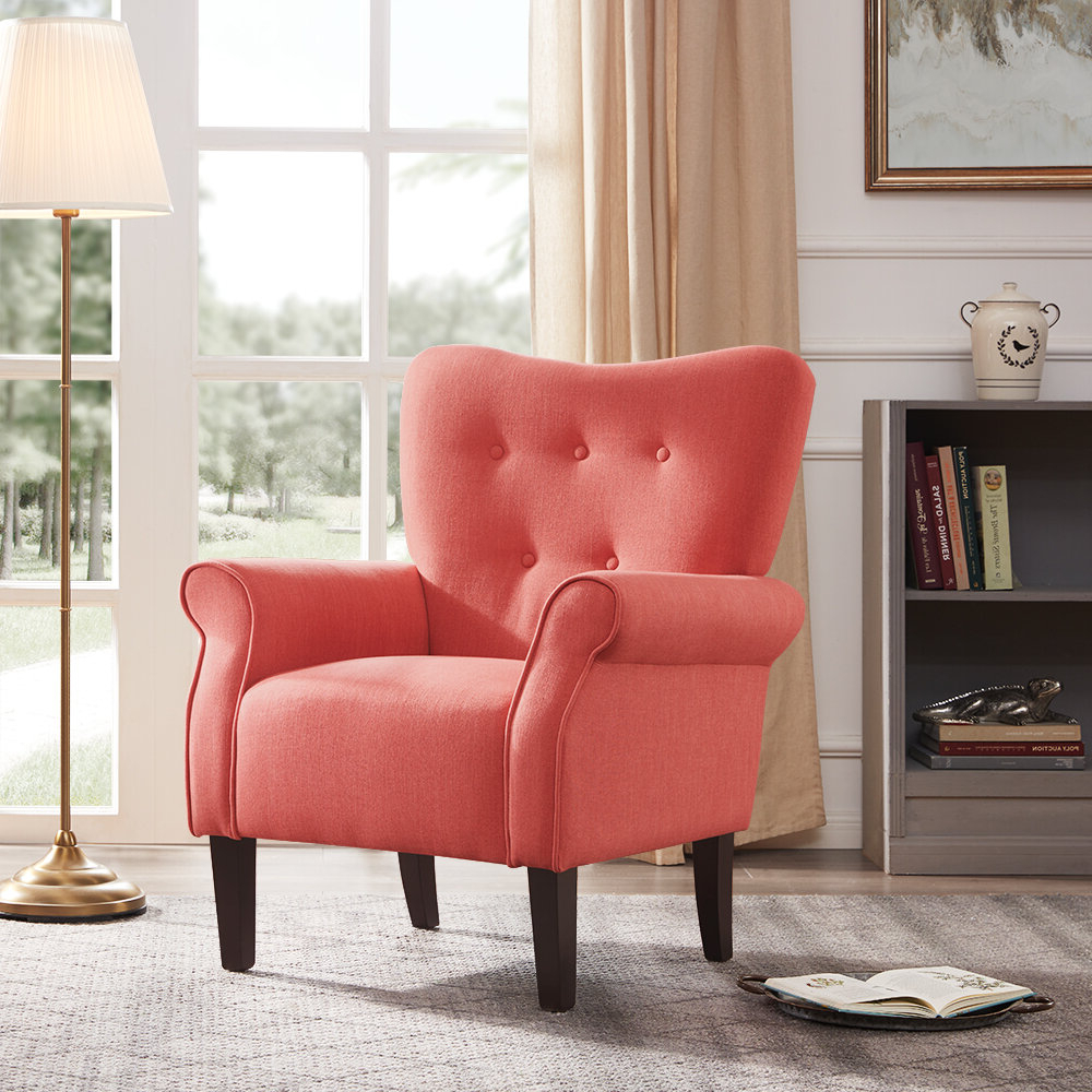 "2019 Ivo 30"" W Tufted Wingback Chair In Suki Armchairs By Canora Grey (View 15 of 20)"