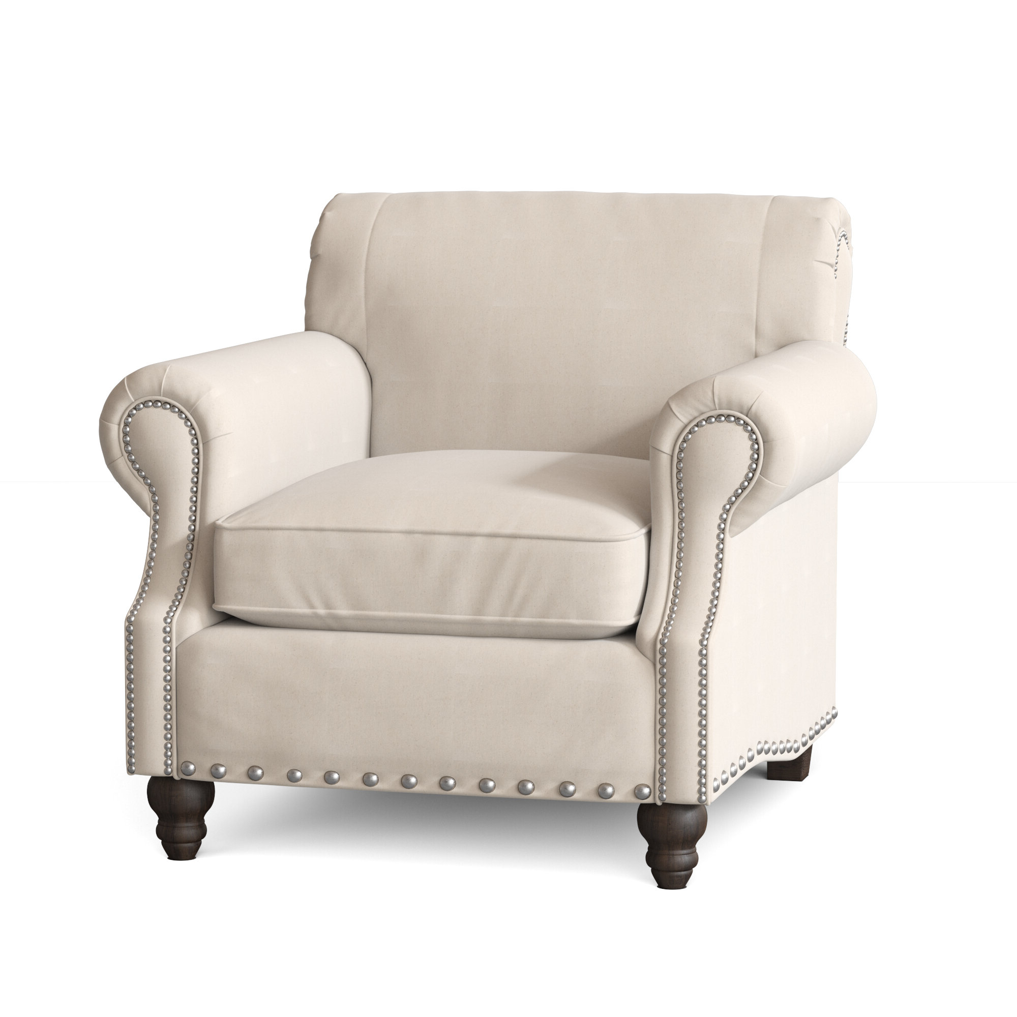 "2019 Landry 40"" W Polyester Blend Down Cushion Armchair With Polyester Blend Armchairs (View 9 of 20)"
