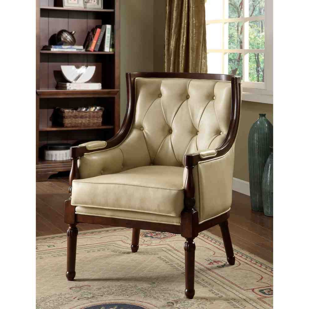 2019 Leather Accent Chairs (View 10 of 20)