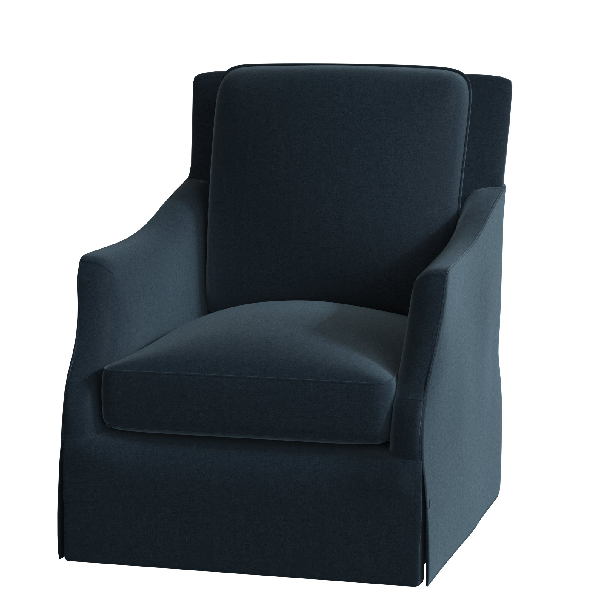 2019 Sabine Swivel Armchair Inside Ronald Polyester Blend Armchairs (View 15 of 20)