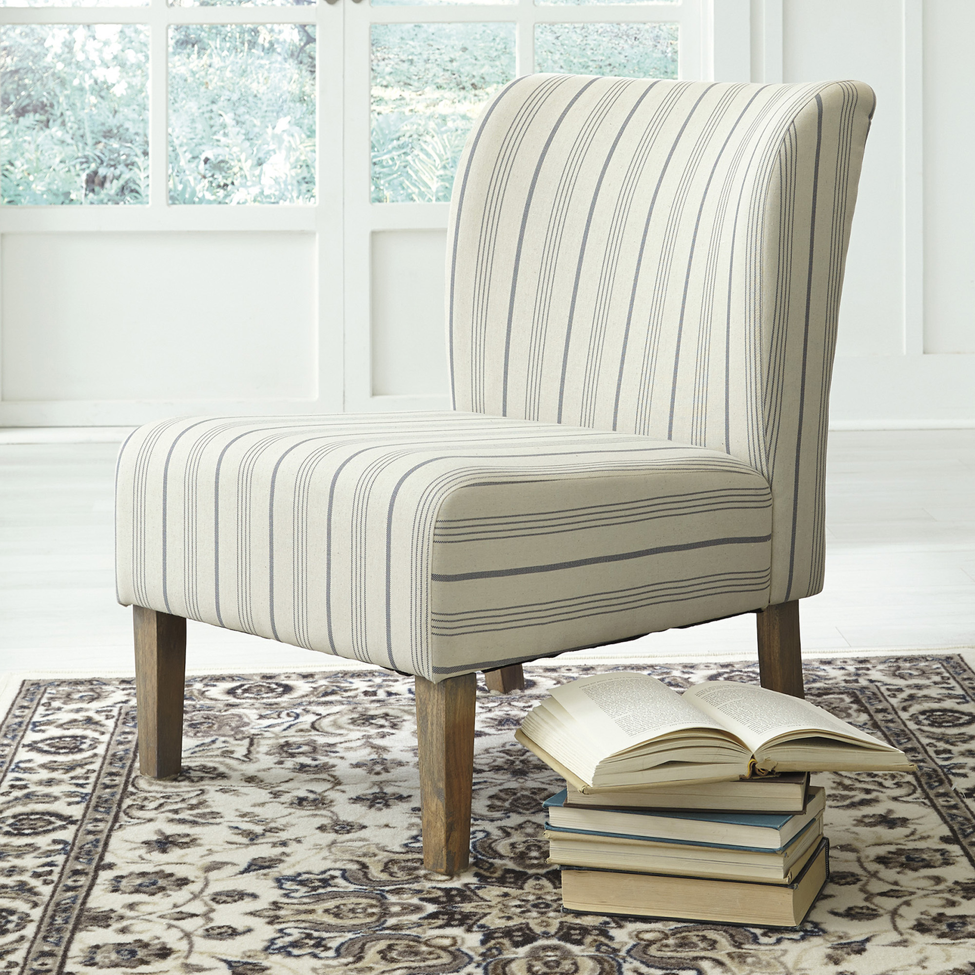 2019 Striped Caldwell Accent Chair Within Caldwell Armchairs (View 7 of 20)