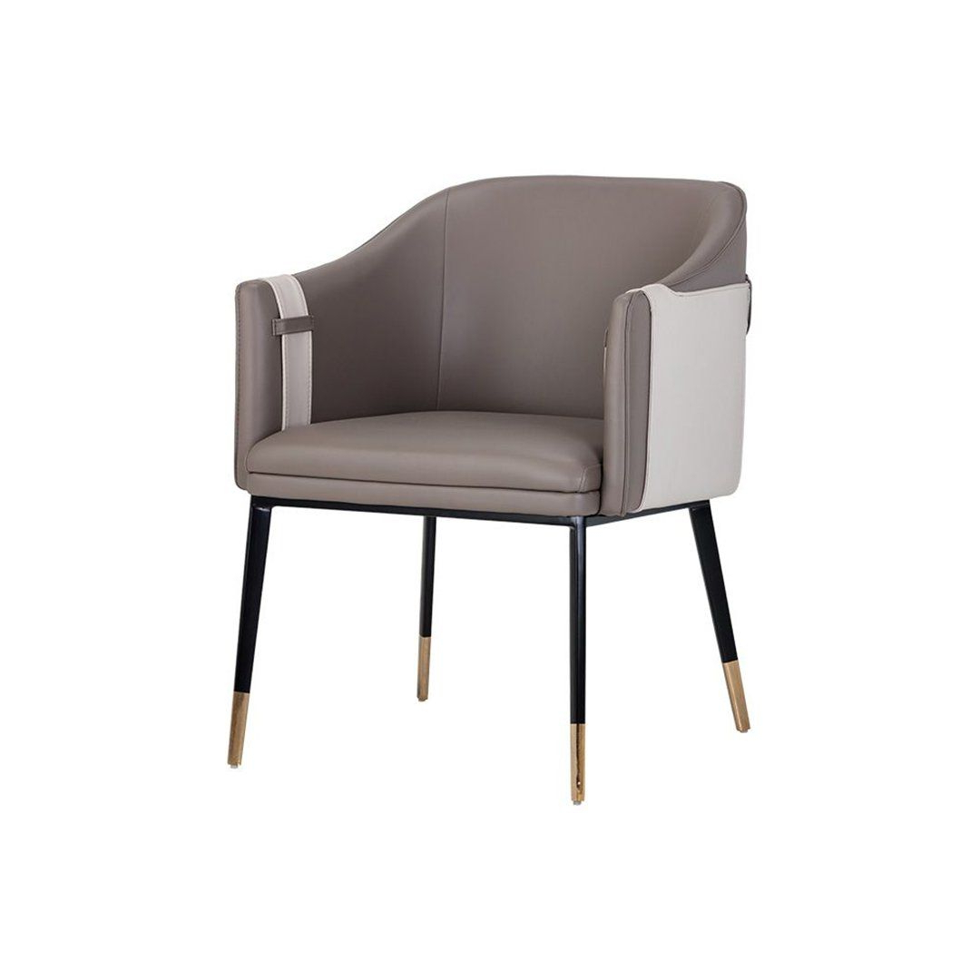 2020 Aime Upholstered Parsons Chairs In Beige For Carter Dining Armchair Seriesnapa Taupe / Napa Stone In (View 19 of 20)