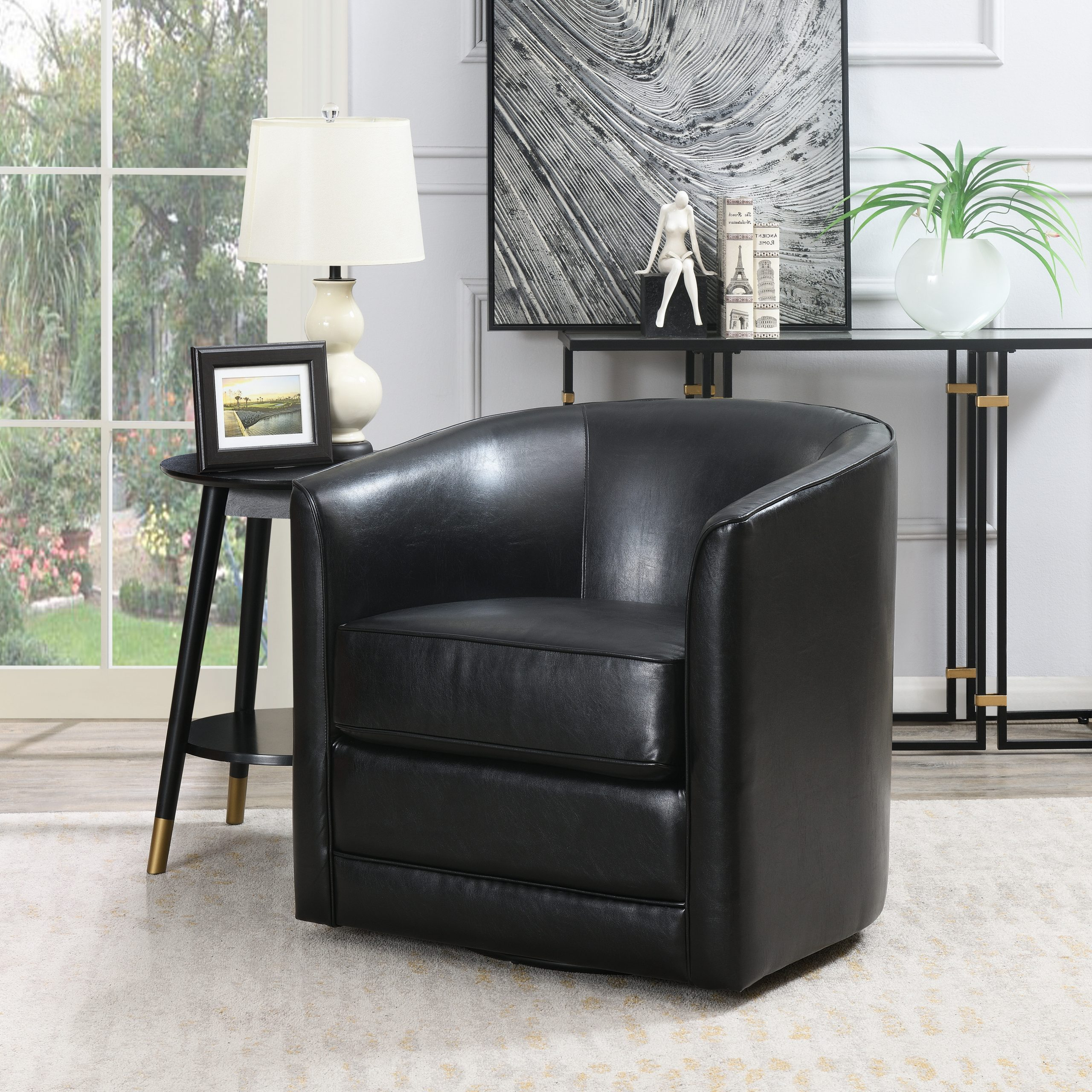 2020 Barrel Black Accent Chairs You'll Love In  (View 16 of 20)