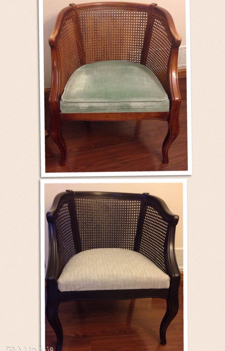 2020 Barrel Cane Chair Makeover Before And After – Success For Ronda Barrel Chairs (View 16 of 20)