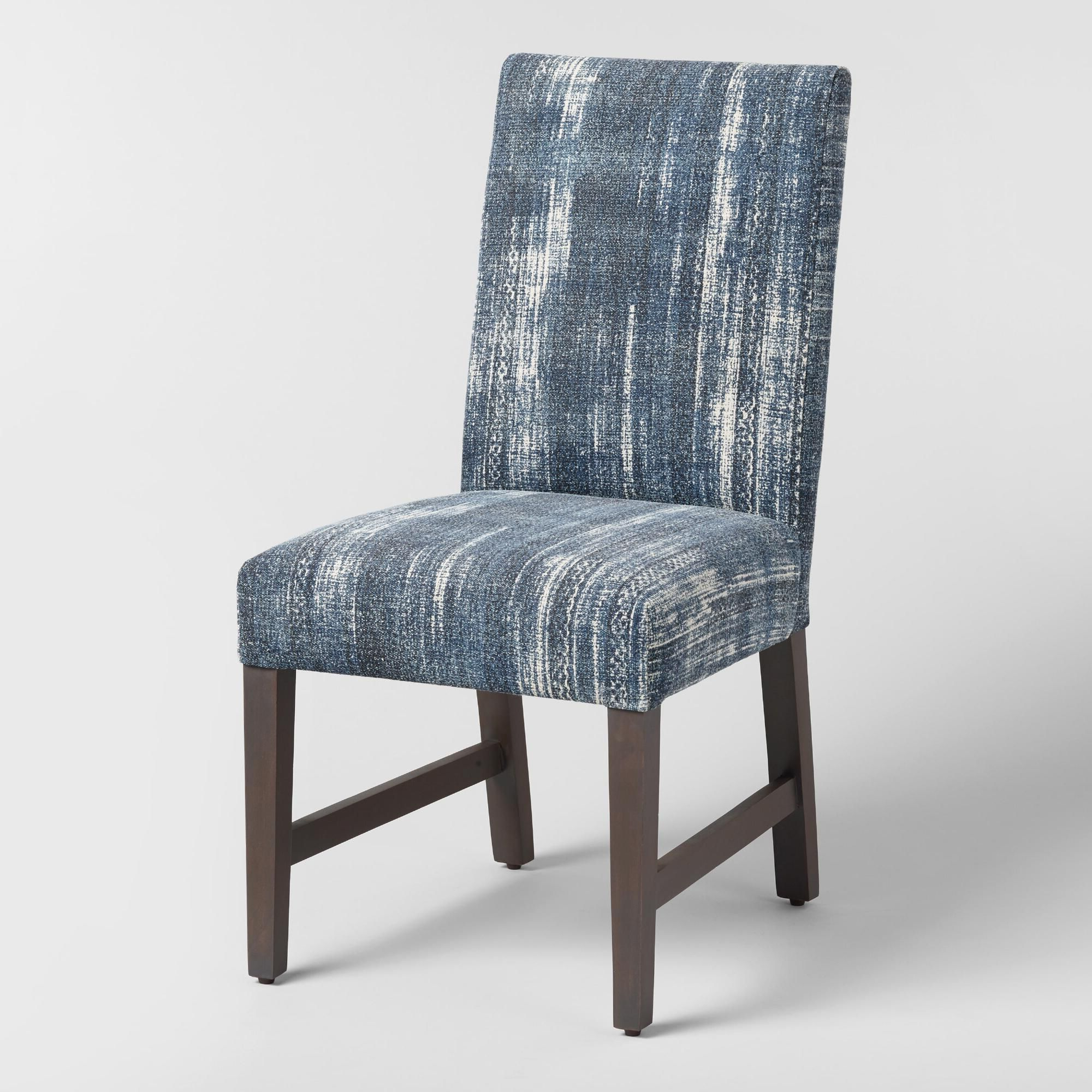 2020 Indigo Blue Emmett Upholstered Dining Chairs Set Of 2 Throughout Aime Upholstered Parsons Chairs In Beige (View 18 of 20)