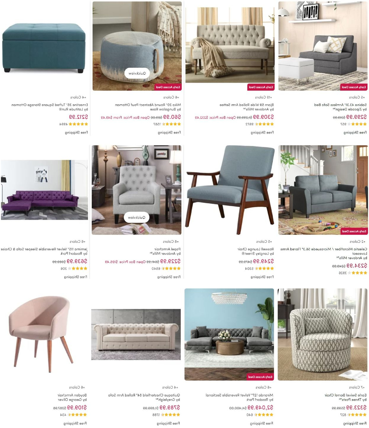 2020 Wayfair Black Friday 2020 Current Weekly Ad 11/10 – 11/24 Pertaining To Boyden Armchairs (View 12 of 20)