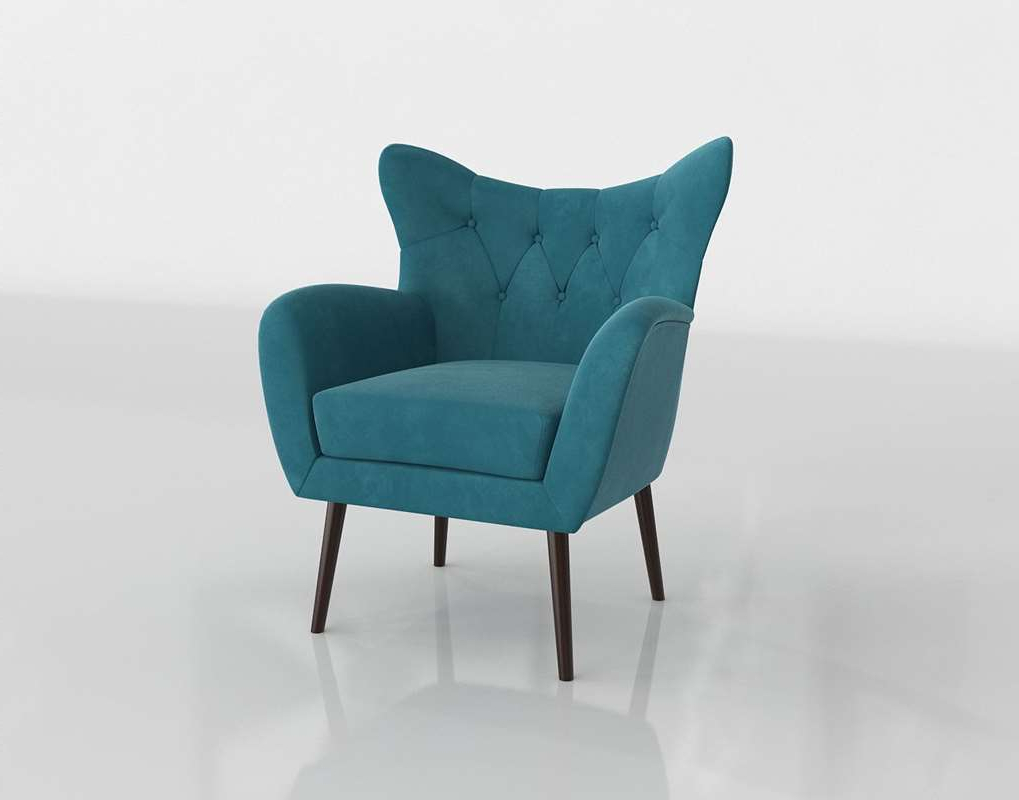 3d Bouck Wingback Chair Wayfair // Glancing Eye Throughout Trendy Bouck Wingback Chairs (View 5 of 20)
