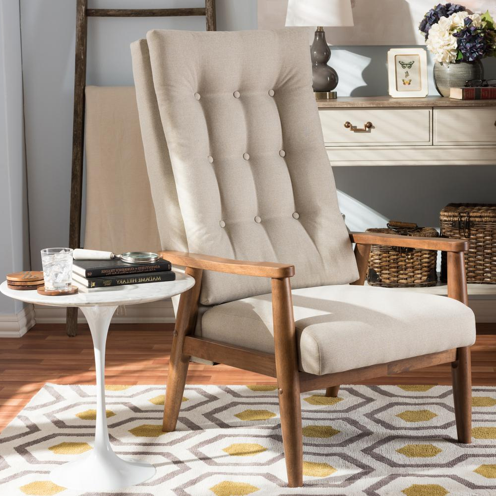 Aalivia Slipper Chairs With Well Known Baxton Studio Roxy Beige Fabric Upholstered Accent Chair 28862 7141 Hd – The Home Depot (View 16 of 20)