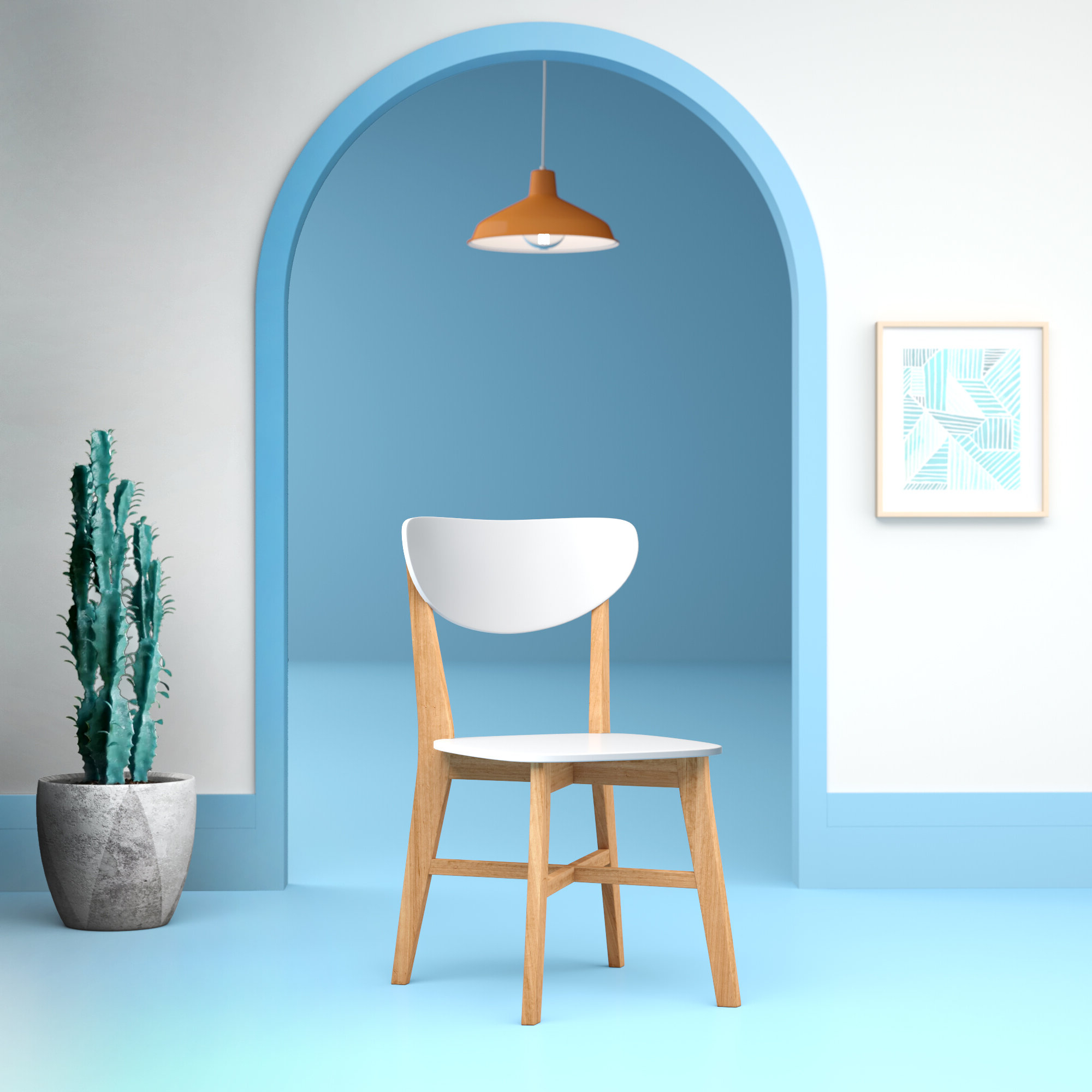 Aaliyah Solid Wood Side Chair In White With Well Known Aaliyah Parsons Chairs (View 4 of 20)