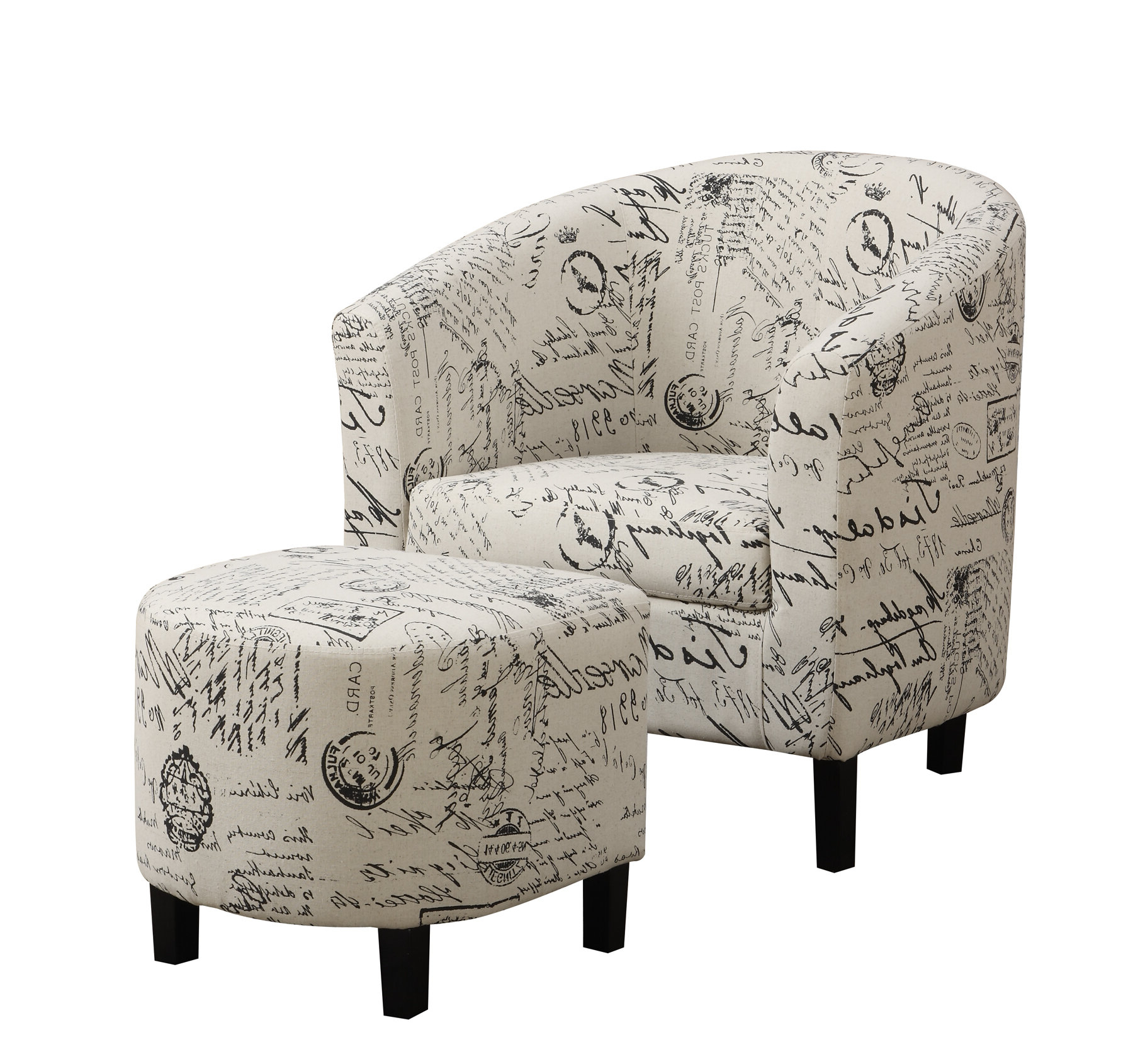 Abbottsmoor Barrel Chair And Ottoman Sets With Trendy Emory (View 3 of 20)
