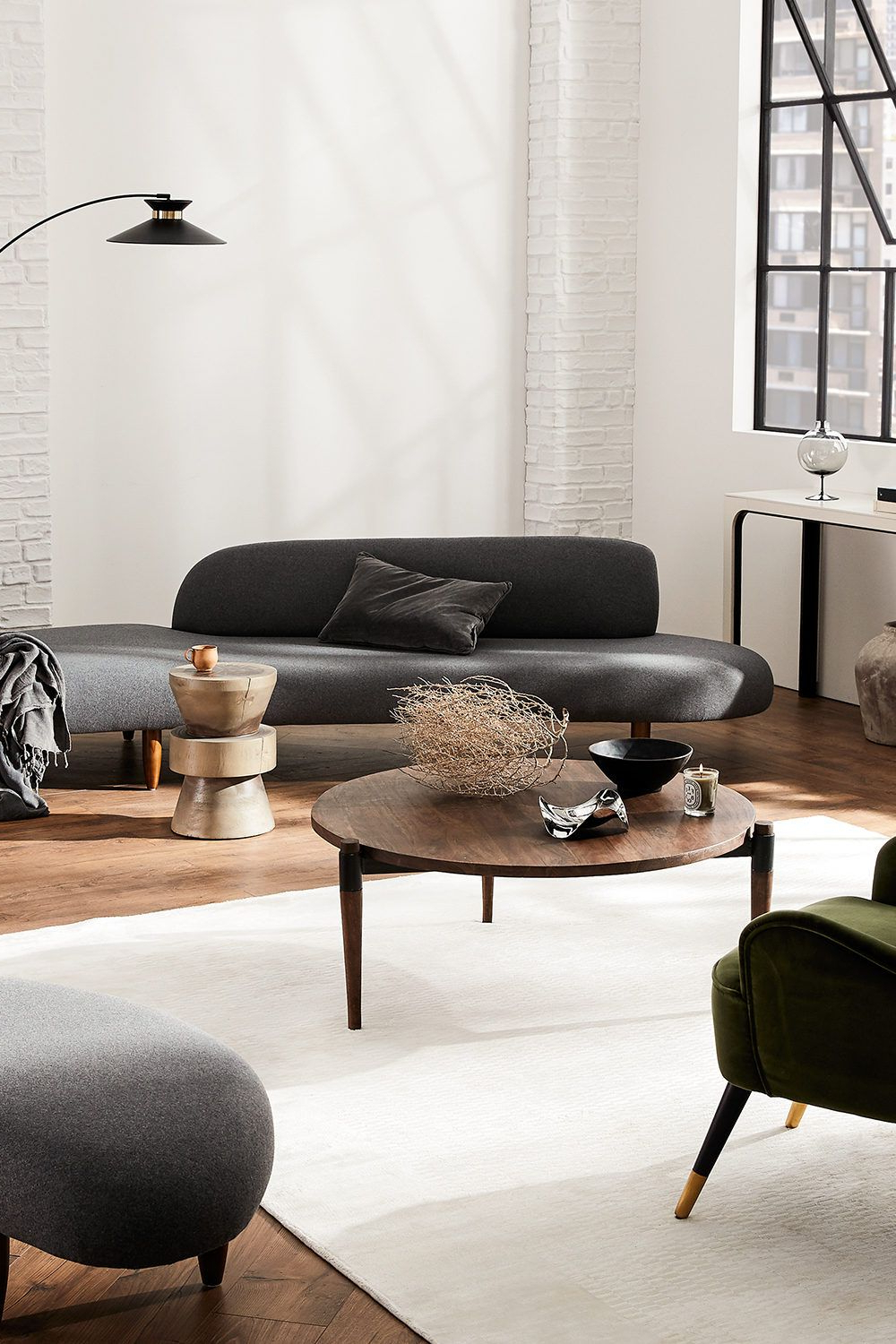 Abbottsmoor Barrel Chair And Ottoman Sets Within Latest Trend Alert: Curved Living Room Furniture (View 7 of 20)