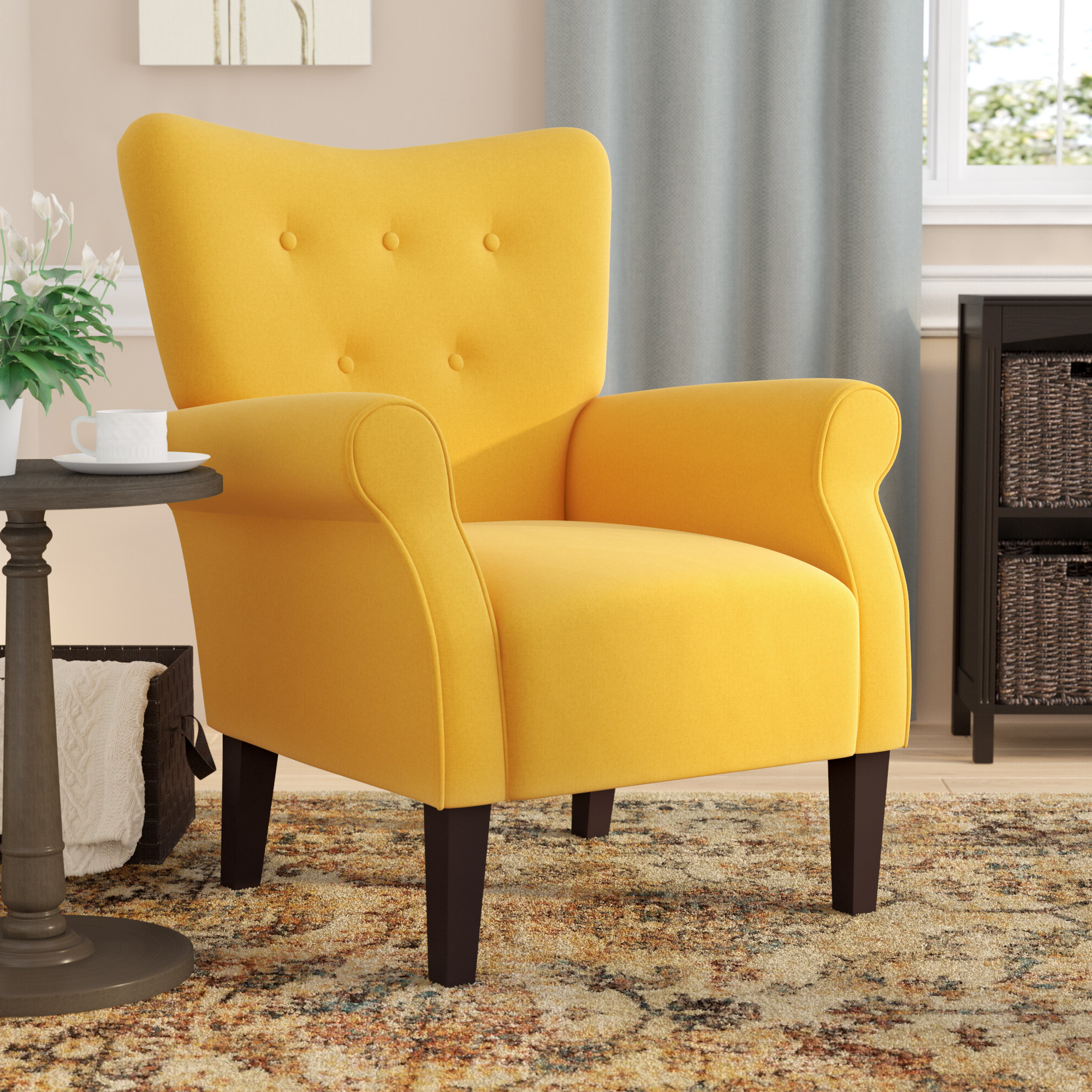 Abbottsmoor Barrel Chair And Ottoman With Latest Ansar Faux Leather Barrel Chairs (View 11 of 20)