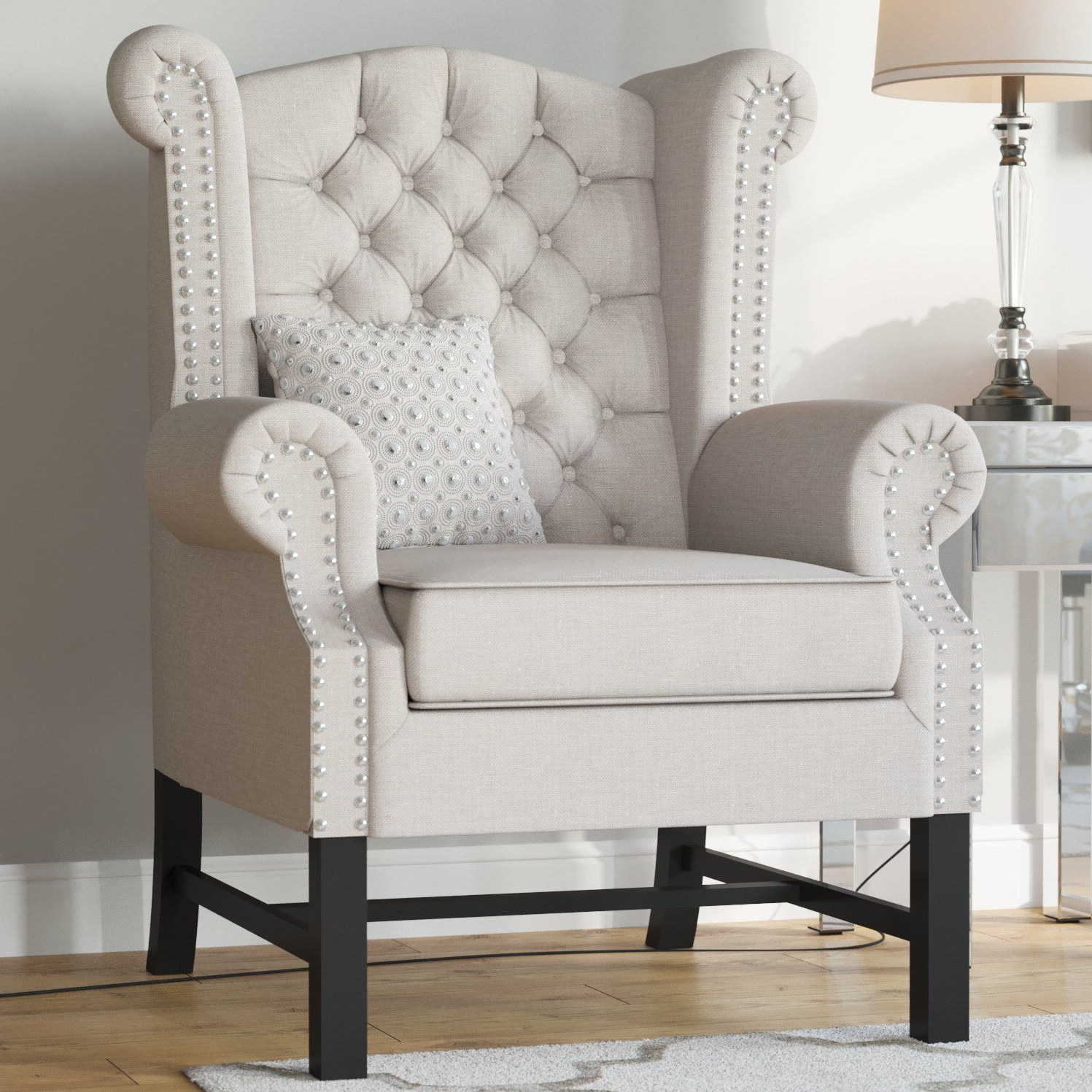 Accent Chairs – Vozeli In Most Up To Date Lenaghan Wingback Chairs (View 8 of 20)