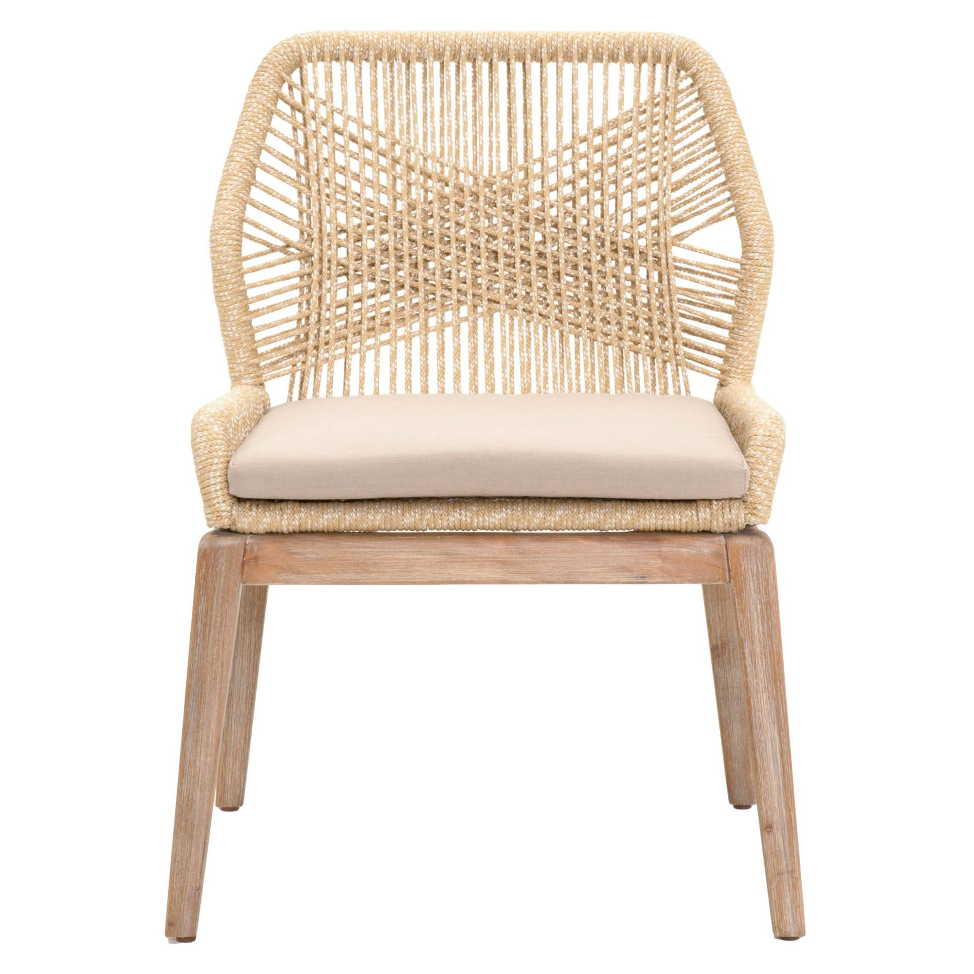 Aime Upholstered Parsons Chairs In Beige Inside Well Liked Rope Dining Chair In (View 10 of 20)